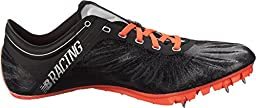 New Balance Women\'s SD200V1 Track Spike, Black/Orange, 5.5 B US