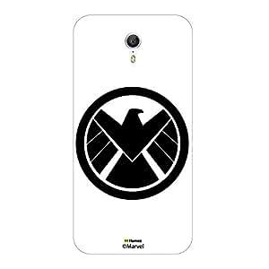 Hamee Original Marvel Character Licensed Designer Cover Slim Fit Plastic Hard Back Case for Meizu M3 Note ( Avengers Shield Icon2 / White )