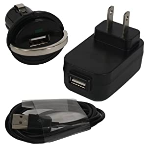 3 in 1 Universal USB charger kit: 1500 mAh Travel / Wall charger, Dual USB Car Charger and USB data cable for iphone 3 3g iphone 4g and ipod touch