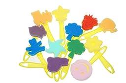 Bilipala Sponge Seal for Kids, 12pcs Children Sponge Paint Brushes