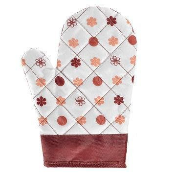 The Best U Want Comfortable And Environmentally Friendly Anti-Scalding Heat Insulated Waterproof Dirt Cotton Oven Mitts Kitchen Fresh Brown Flowers Thicker Anti-Hot Oven Gloves A Skid Mounted