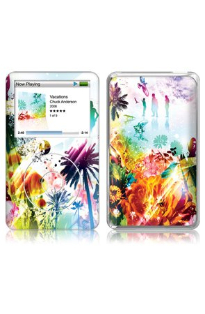 MusicSkins Chuck Anderson - Vacations - MP3 Player Skins,Accessories for Unisex, iPod Nano(1st Gen),Black