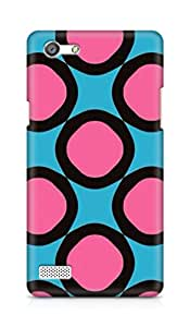 Amez designer printed 3d premium high quality back case cover for OPPO Neo 7 4G (Geometric Patterns)