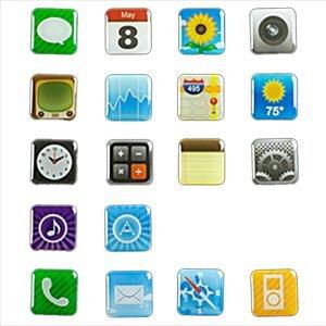 スマートフォンアプリ冷蔵庫用マグネット