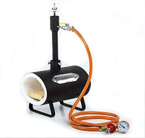 DFSW Gas Propane Forge for Knifemaking Farriers Blacksmiths Furnace Burner WITHOUT the BALL VALVE (Blacksmith Propane Forge compare prices)