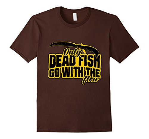 Men's Only dead fish go with the flow T-Shirt – Rebel Free Medium Brown