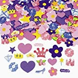 500 Self Adhesive Foam Princess Shapes - Stickers