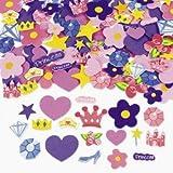 500 Self Adhesive Foam Princess Shapes - Stickers