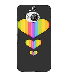 PrintVisa Colorful Heart Design 3D Hard Polycarbonate Designer Back Case Cover for HTC ONE M9+