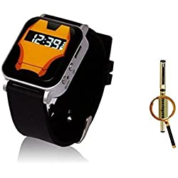 The Smallest Dual GPS GSM Position GPRS Tracker Watch MIC SOS For child kids old + Blueskysea Free Gift Gel Pen (Orange) by China Oem