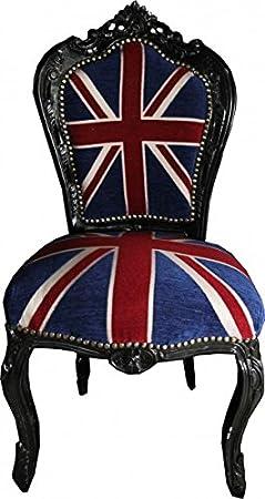 Casa Padrino Baroque Armchair Union Jack / Black - furniture antique style