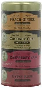 Zhena's Gypsy Tea, Black Tea Sampler Tin, 16-Count Tea Sachets (Pack of 3)