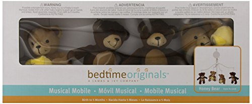 Lambs & Ivy Bedtime Originals Musical Mobile, Honey Bear