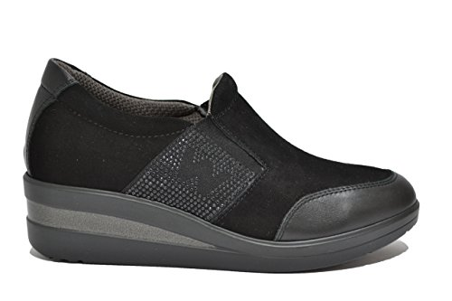 Melluso Slip on zeppa nero scarpe donna Walk R0817 37