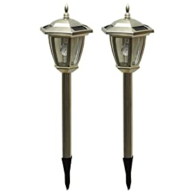 Tricod Stainless Steel Hexagon 3 LED Solar Light, Pack of 2