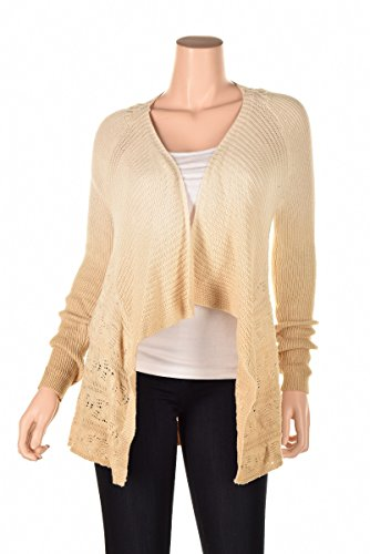 INC Womens Knit Ombre Cardigan Sweater Beige M (Inc Womens Sweaters compare prices)