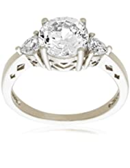 Cubic Zirconia Three-Stone Ring