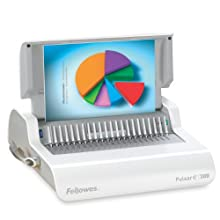 Fellowes Pulsar E 300 Comb Binding Machine, Gray (5216701)