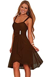 Junior Sleeveless Sweetheart Sequins Layered Sheer Evening Party Formal Dress