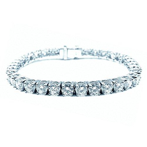 17.66Carat con Diamante rotondo Claw Set Bracciale Tennis, Platino, platino, cod. BR0112.1