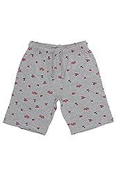 Chalk by Pantaloons Boy's Cotton Shorts (205000005605601, Grey, 2-3 Years)