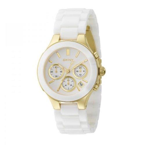 DKNY Ceramic Bracelet Chronograph White Dial Women's watch #NY4913