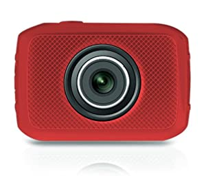 Pyle Pyle PSCHD30RD Mini High-Definition Sports Action Wide-Angle HD Camera & Camcorder, 720p, SD Card Slot, Touchscreen (Red)