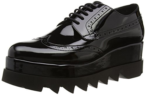 Cult Alice Scarpe brogue stringate, Donna, Nero, 36