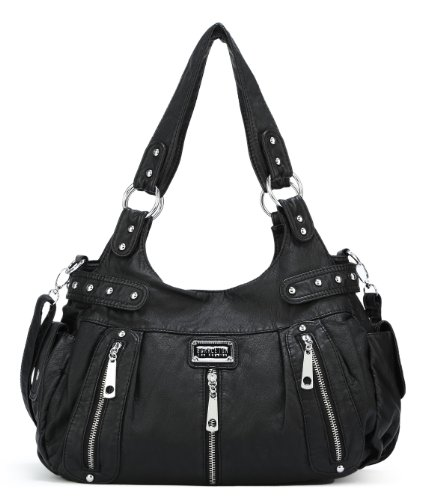 Scarleton-3-Front-Zipper-Washed-Shoulder-Bag-H1292