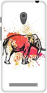 The Racoon Lean The Painted Pachyderm hard plastic printed back case / cover for Asus Zenfone 6 A600CG/A601CG