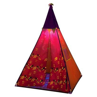 B. Teepee Tent - Raspberry Color (Red) front-170709