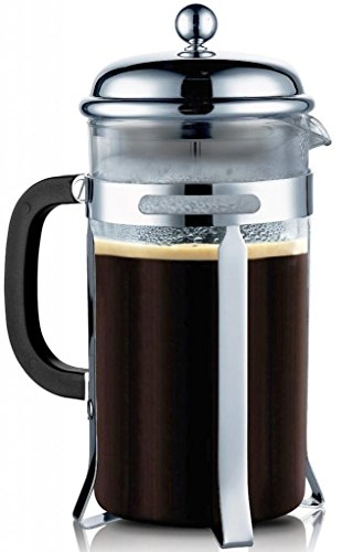 French Press - High Premium Coffee Tea & Espresso Maker with 34-Ounce Heat Resistant Glass, Steel Plunger + FREE Bonuses