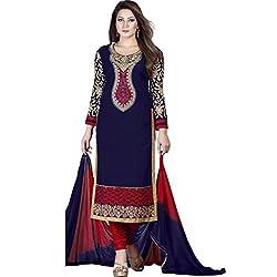SHIVAM RETAIL BEAUTY NEAVY BLUE DRESS MATERIAL