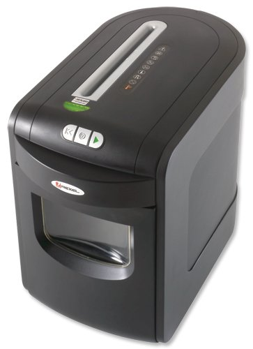 Rexel Mercury REX1023 Shredder AntiJam Confetti Cut 4x50mm DIN3 13.4kg W269xD471xH413mm Ref 2101995