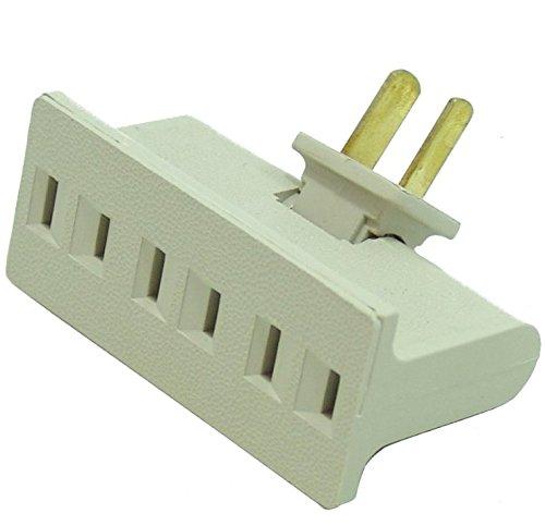 Hnfshop 3 Outlet Socket Swivel Plug Adapter 125V 15A 1875W