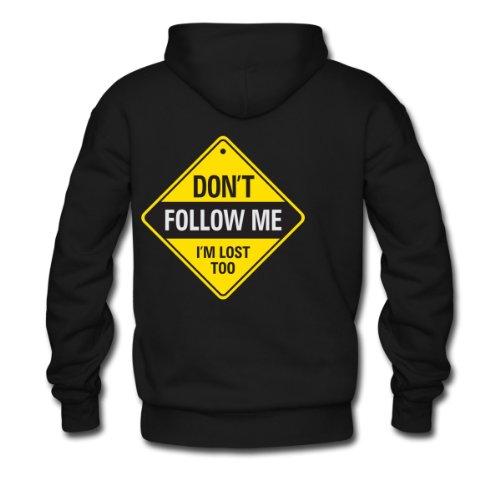 Spreadshirt, Dont Follow Me 1 (dd)++, Men's Hoodie, black, XL