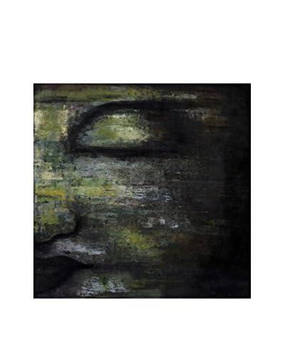 My Spirit Garden Deep Reflection Acrylic Painting, Gold/Jewel/Grey