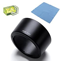 Movo Photo ET-67B Lens Hood for Canon EF-S 60mm f/2.8 Macro Lens with 2X Spirit Level & Microfiber Lens Cloth