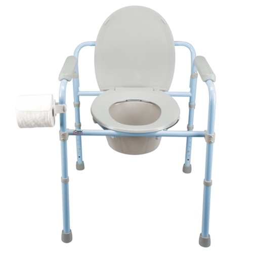 Carex Health Brands Deluxe Folding Commode