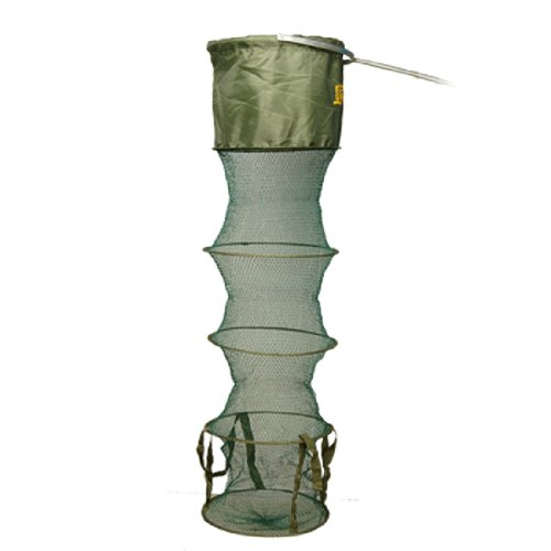 Como Lobster Crab Trap Cast 5 Sections Cyan Army Green Foldable Net