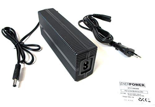 ENER Chargeur Power Li-Ion 29,4 V/3 A Cccv pour batteries pedeec 24 V avec connecteur rond (DC 5,5 mm/2,5 mm) Mifa/phylion