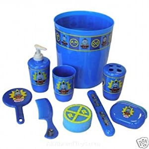 Thomas the tank engine 9 piece bathroom set amazoncouk for Thomas the train bathroom set