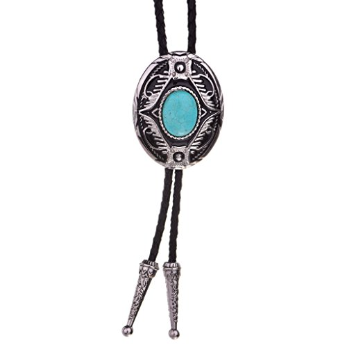 Huabola Authentic leather natural turquoise western tie bolo (Natural Ties compare prices)