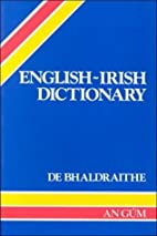 English-Irish Dictionary with Terminological…