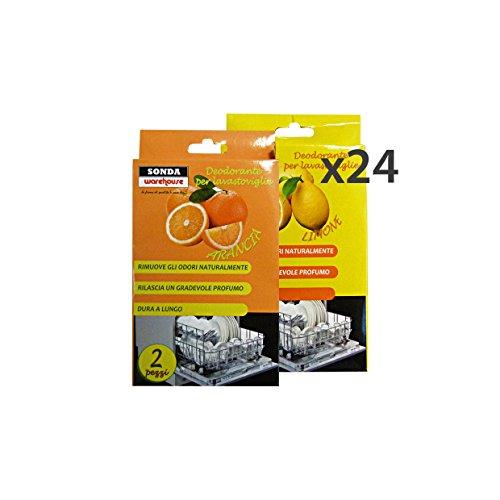 Set 24 SONDA Deodorante Lavastoviglie ARANCIA-Limone * 2 Pezzi Detergenti casa