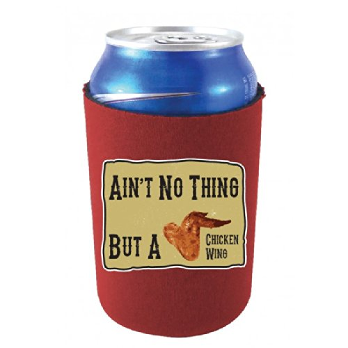 Coolie Junction Chicken Wing Funny Can Coolie Burgundy front-582625
