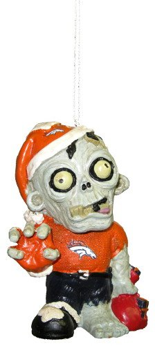 Denver Broncos NFL Zombie Christmas Ornament