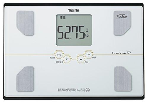 タニタ 体組成計 インナースキャン50 BC-313-WH(パールホワイト) 最小表示50g/乗るピタ機能で簡単測定