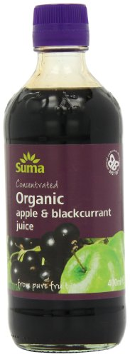 Suma Organic Apple and Blackcurrant Juice 400 ml (Pack of 6)