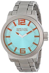 Kenneth Cole Reaction Men's RK3232 Silver Stainless-Steel Quartz Watch with Silver Dial
